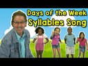 Syllables of the words: days of the week