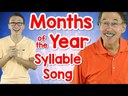 Syllables of the words: months of the year