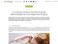 La música mejora las técnicas de aprendizaje de una segunda lengua (17/12/2019)