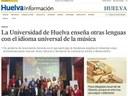 La Universidad de Huelva enseña otras lenguas con el idioma universal de la música (22/11/2020)